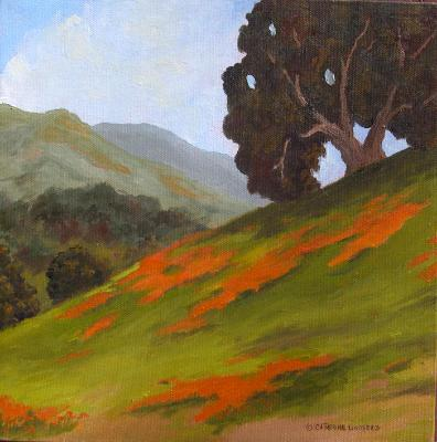 "California Spring  10x10"" oil on canvas  $125"