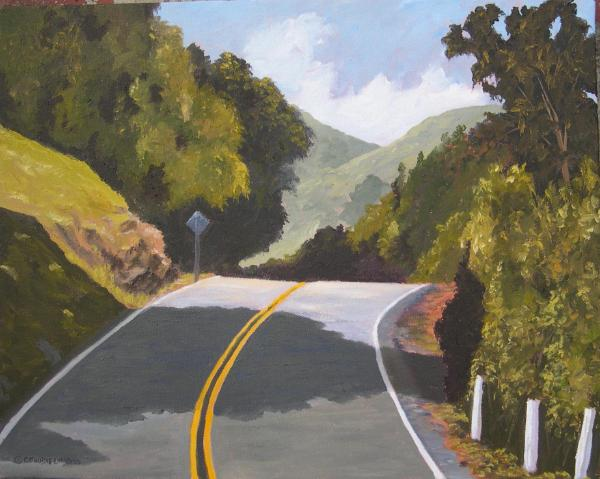 """The Road Less Traveled  11x14""""  oil on canvas  $150"""