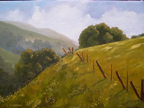 "Crow Canyon February  9x12""  oil on canvas  SOLD"