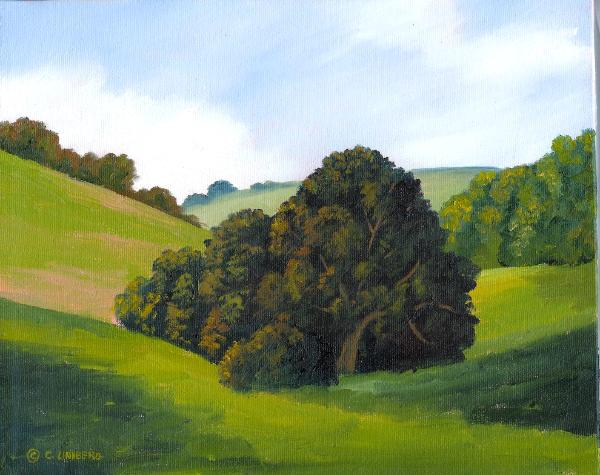 "Oak Study  8x10"" oil on canvas  $125"